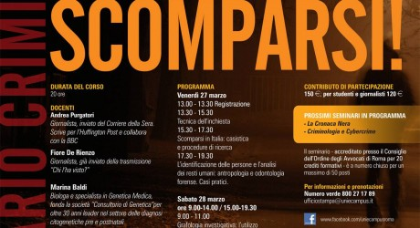 Criminologia: all'eCampus un seminario sugli scomparsi