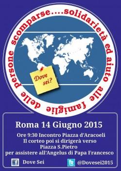 A Roma importante corteo di solidarietà alle famiglie delle persone scomparse