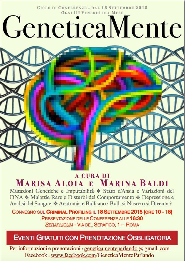 """""""GeneticaMente Parlando"""": quando la genetica incontra la psicologia, anche nelle aule di tribunale"""
