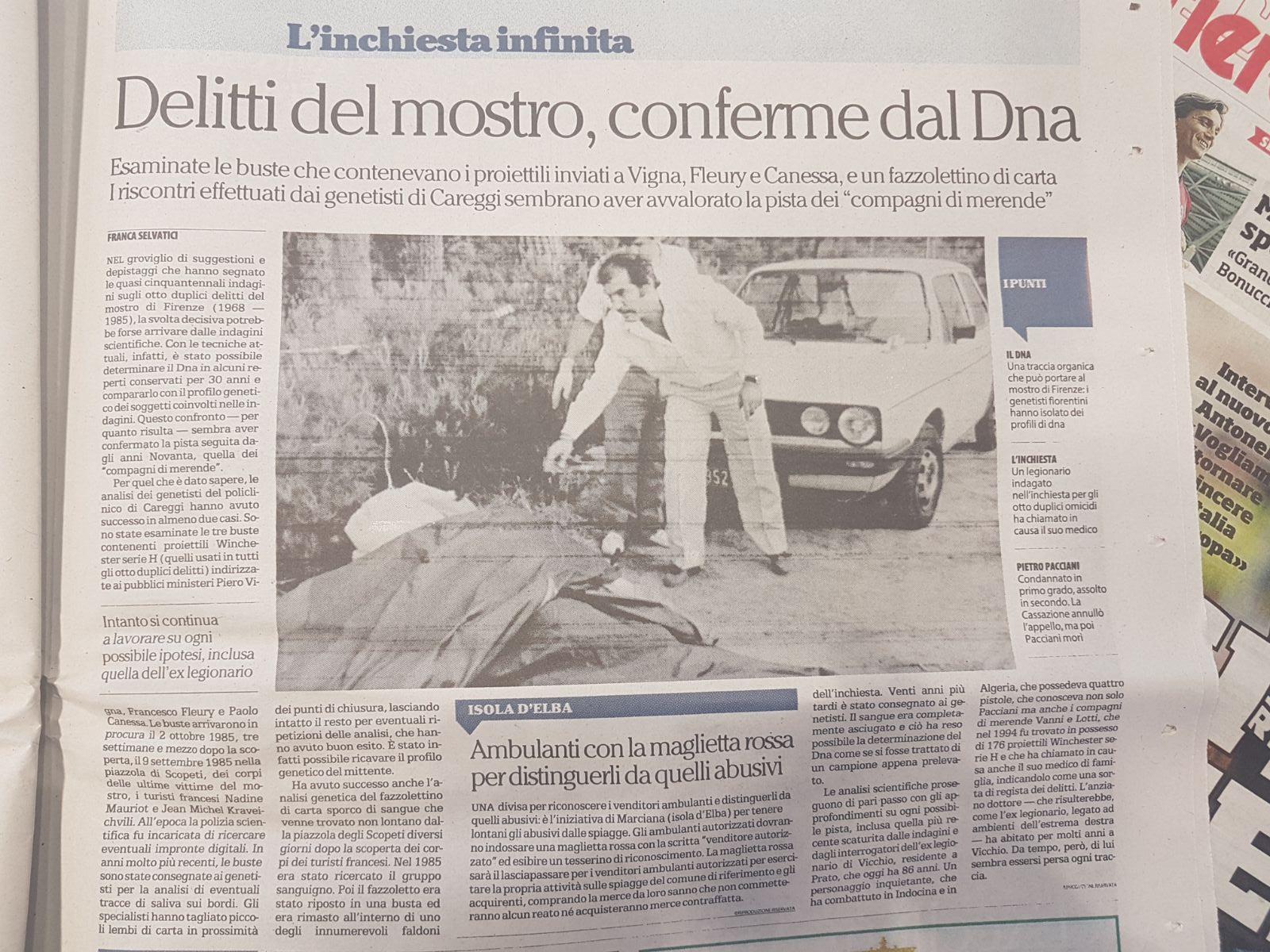 Mostro di Firenze, anche l'ex medico di Vigilanti chiamato in causa
