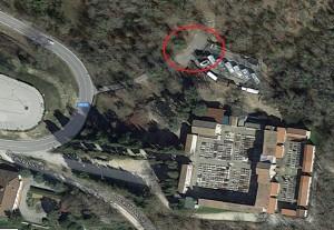 foto aerea google maps cimitero castellina e radura omicidio