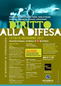 """""""Diritto alla difesa"""", il nuovo seminario Nerocrime"""