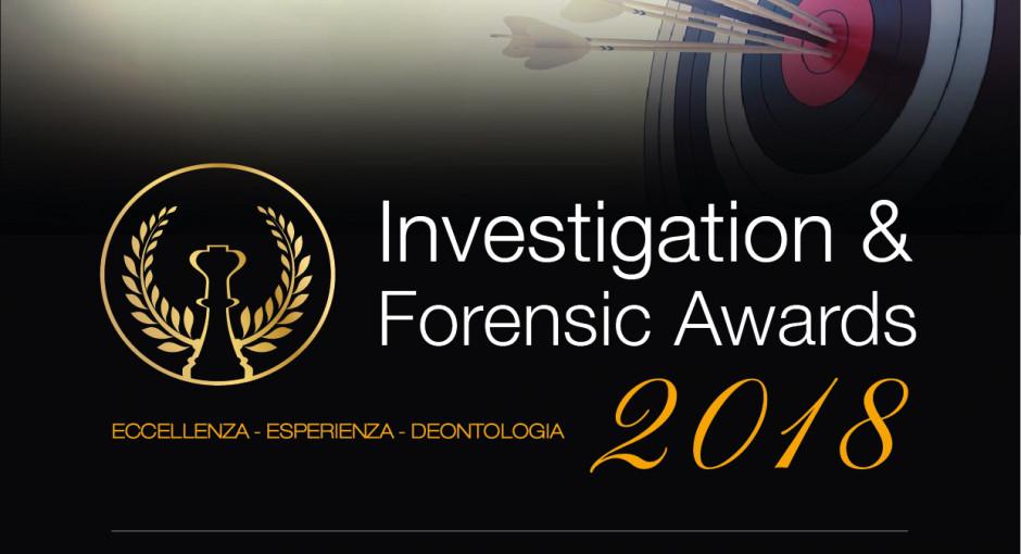 Al via la seconda edizione degli Investigation & Forensic Awards