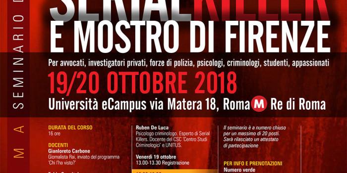Il punto su serial killer e Mostro di Firenze nel nuovo seminario Nerocrime