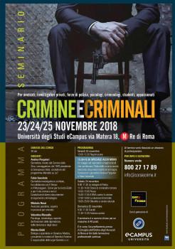 Crimini e criminali al di là dai luoghi comuni, nel nuovo seminario Nerocrime